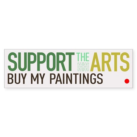 Support the Arts Artist's Bumper Sticker
