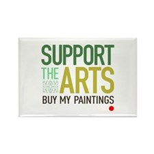 Support the Arts Artist's Rectangle Magnet