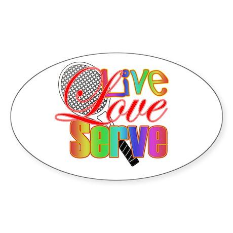 Live, Love, Serve Oval Sticker