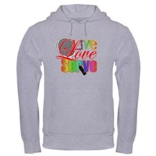 Live, Love, Serve Hoodie