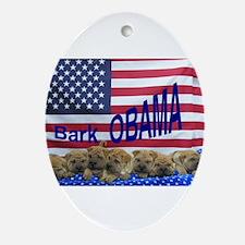 Obama Pei Oval Ornament