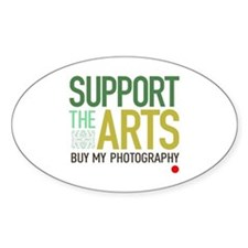 Support the Arts Photographer Oval Decal