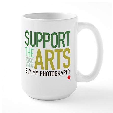 Support the Arts Photographer Large Mug