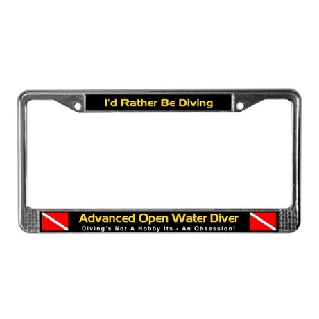 Advanced Open Water Diver, License Plate Frame