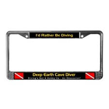 Deep Earth Cave Diver License Plate Frame