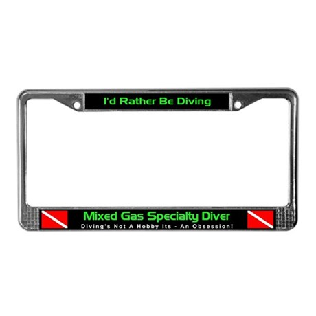 Mixed Gas Specialty Diver, License Plate Frame