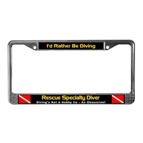 Rescue Diver, Scuba Diving, License Plate Frame
