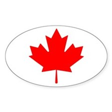 Canadian Maple Leaf Oval Decal