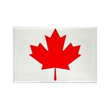 Canadian Maple Leaf Rectangle Magnet