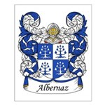 Albernaz Family Crest Small Poster