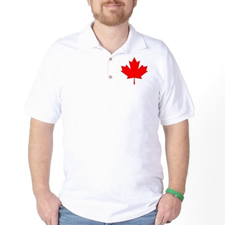 Canadian Maple Leaf Golf Shirt