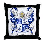 Albernaz Family Crest Throw Pillow