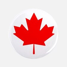 "Canadian Maple Leaf 3.5"" Button"