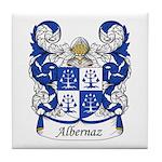 Albernaz Family Crest Tile Coaster