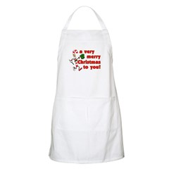 Very Merry Christmas BBQ Apron