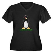 Locutus of Penguin Women's Plus Size V-Neck Dark T