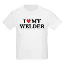I Love My Welder Kids T-Shirt