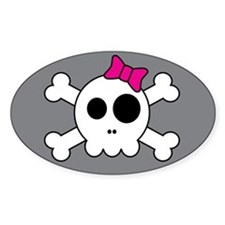 Cute Skully Oval Decal