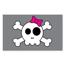 Cute Skully Rectangle Decal