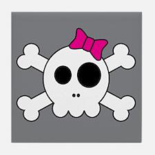 Cute Skully Tile Coaster