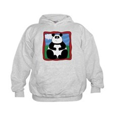 Adorable Panda with Red Border Hoodie