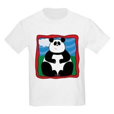 Adorable Panda with Red Border T-Shirt