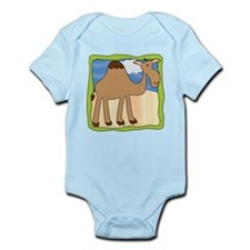 Wandering Camel with Green Border Infant Bodysuit
