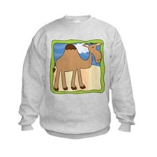 Wandering Camel with Green Border Sweatshirt