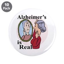 """Alzheimer's is Real 3.5"""" Button (10 pack)"""
