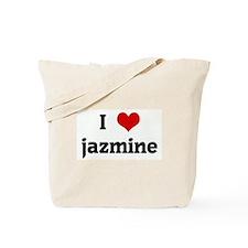 I Love jazmine Tote Bag