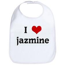 I Love jazmine Bib