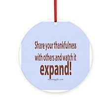 Thankfulness Ornament (Round)