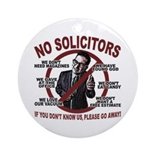 "3"" Round No Solicitors Sign"