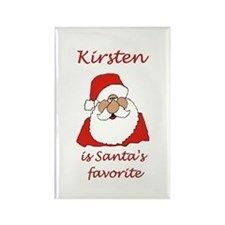 Kirsten Christmas Rectangle Magnet