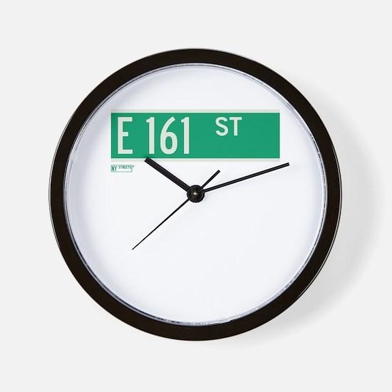 E 161st Street in The Bronx Wall Clock