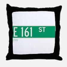 E 161st Street in The Bronx Throw Pillow