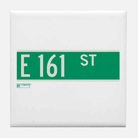 E 161st Street in The Bronx Tile Coaster