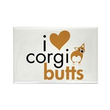 I Heart Corgi Butts - RWP Rectangle Magnet