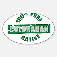 COLORADO SHIRT 100% NATIVE CO Oval Decal