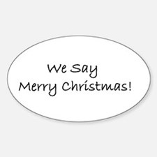 Christmas Oval Sticker - Place Merry everywhere!