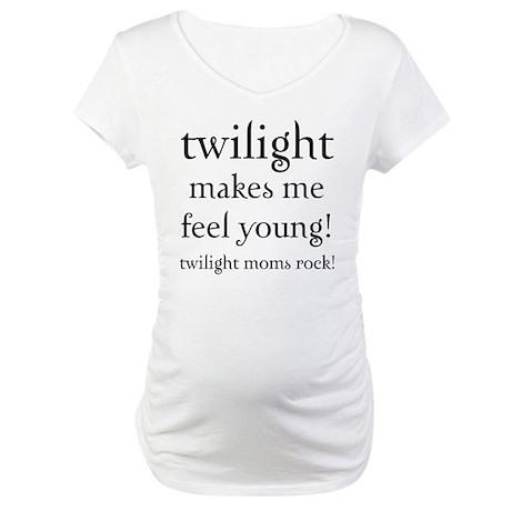 Twilight Moms Feel Young Maternity T-Shirt