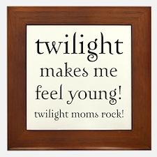 Twilight Moms Feel Young Framed Tile