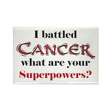 I Battled Cancer Rectangle Magnet