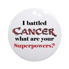 I Battled Cancer Ornament (Round)
