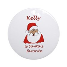 Kelly Christmas Ornament (Round)