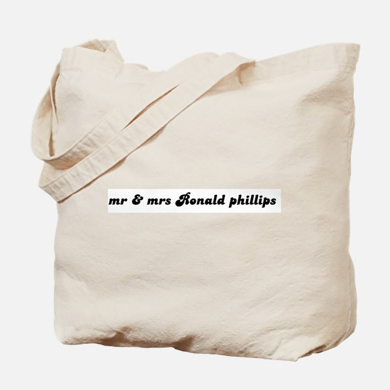 mr & mrs Ronald phillips Tote Bag