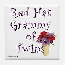 Red Hat Grammy of Twins - FLR Tile Coaster