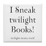 Twilight Moms Sneak Books Tile Coaster