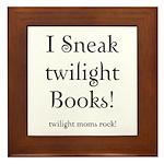 Twilight Moms Sneak Books Framed Tile