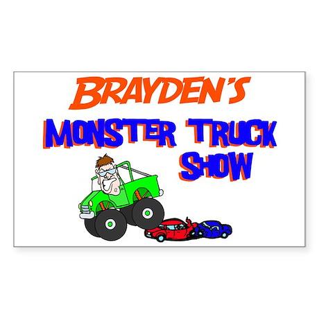 Brayden's Monster Truck Rectangle Sticker